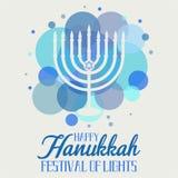 Hanoucca, festival des lumières image libre de droits
