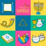 Hanoucca heureux, fond juif de vacances illustration stock
