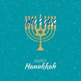 Hanoucca heureux, fond juif de vacances Illustration de vecteur Hanoucca est le nom des vacances juives illustration stock