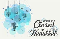 Hanoucca, nous serons fermés photographie stock