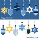 Hanoucca ornemente la bannière illustration stock