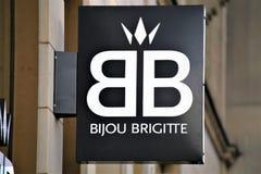 Hanover/Duitsland - 11/13/2017 - een Beeld van Bijou Brigitte Logo stock afbeelding