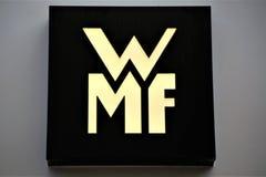 Hanover/Duitsland - 11/13/2017 - een Beeld van een WMF-Embleem stock fotografie