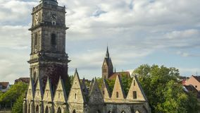 Hanover`s famous landmarks. Destroyed during Second World War Aegi church and Market church. Time lapse. stock footage