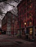 Hanover Square at night Stock Photos