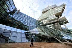 Hanovre, Allemagne Construction de sièges sociaux de banque de NORD livre photographie stock
