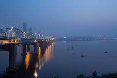 HanRiver de Seoul Coreia do Sul fotografia de stock royalty free