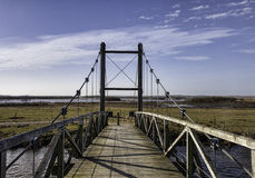Hans βασιλιάδων γέφυρα κοντά σε Skjern, Δανία Στοκ Φωτογραφία