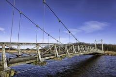 Hans βασιλιάδων γέφυρα κοντά σε Skjern, Δανία Στοκ Φωτογραφίες