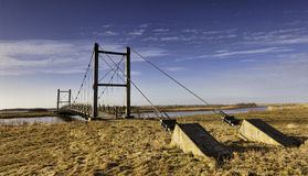 Hans βασιλιάδων γέφυρα κοντά σε Skjern, Δανία Στοκ φωτογραφίες με δικαίωμα ελεύθερης χρήσης