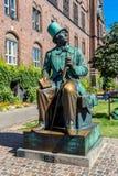 Hans Christian Andersen άγαλμα στην Κοπεγχάγη, Δανία στοκ εικόνα