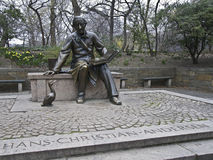Hans Christian Andersen. Sculpture of Hans Christian Andersen in the Central Park, NYC Stock Images
