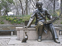 Hans Christian Andersen. Sculpture of Hans Christian Andersen in the Central Park, NYC Stock Image