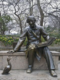 Hans Christian Andersen. Sculpture of Hans Christian Andersen in the Central Park, NYC Royalty Free Stock Photo