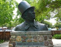 Hans Christian Andersen. Bust of writer Hans Christian Anderson Stock Photography