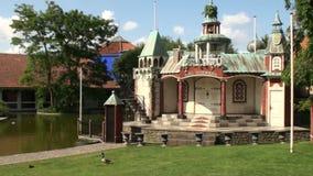 Hans Christian Andersen memorial stock video