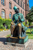 Hans Christian Andersen statue in Copenhagen, Denmark. Monument of Hans Christian Andersen in Copenhagen, Denmark stock image