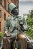 Hans Christian Andersen Statue, Radhuspladsen (πλατεία του Δημαρχείου), Κοπεγχάγη, Δανία στοκ φωτογραφίες