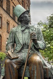 Hans Christian Andersen Statue, Radhuspladsen (City Hall Square), Copenhagen, Denmark. COPENHAGEN, DENMARK - Juny 26: Hans Christian Andersen Statue Stock Photos