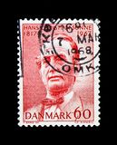 Hans Christian Sonne 1817-1880, serie, circa 1967. MOSCOW, RUSSIA - NOVEMBER 23, 2017: A stamp printed in Denmark shows Hans Christian Sonne 1817-1880, serie stock photos