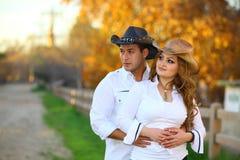 hans cowboycowgirl Arkivfoto