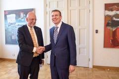 Hans Dahlgren i Edgars Rinkevics fotografia stock