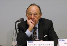Hans-Dietrich Genscher Image stock