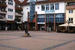Hans-Karl-quadrado Griesheim Fotografia de Stock Royalty Free