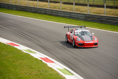 Hans-Peter Koller, tazza 2015 di Porsche Carrera a Monza Fotografia Stock