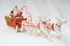 hans santa sleigh Arkivbild