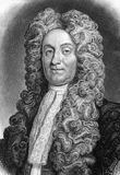 Hans Sloane. Sir Hans Sloane, 1st Baronet (1660-1753) on engraving from 1800s. Ulster-Scot physician and collector. Engraved for ther Naturalists Library Royalty Free Stock Image