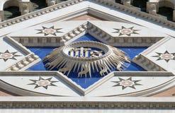HANS tecken, basilikadi Santa Croce - berömd Franciscankyrka i Florence Arkivfoton