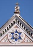 HANS tecken, basilikadien Santa Croce Basilica av helgedomkorskyrkan i Florence, Italien Royaltyfri Fotografi