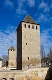 Hans von Altenheim y torres de Henry (1230). Estrasburgo, Francia Fotografía de archivo