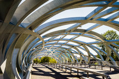 Hans Wilsdorf Bridge in Geneva, Switzerland. Stock Image