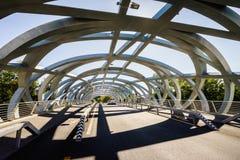 Hans Wilsdorf Bridge in Geneva, Switzerland. Royalty Free Stock Photography