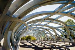 Hans Wilsdorf Bridge i Genève, Schweiz Fotografering för Bildbyråer