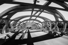 Hans Wilsdorf Bridge i Genève, Schweiz Royaltyfri Fotografi