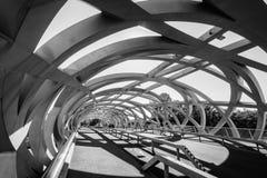 Hans Wilsdorf Bridge i Genève, Schweiz Arkivfoto