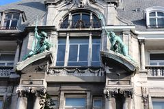 Hansa house (Antwerp). 19the century stately building in Neo-Baroque style Stock Photo