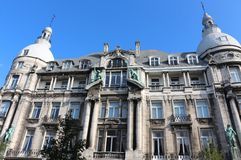 Hansa house (Antwerp). 19the century stately building in Neo-Baroque style Royalty Free Stock Photo