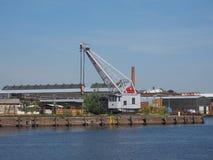 Hansahafen harbour in Luebeck Stock Image