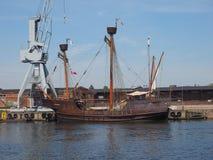 Hansahafen harbour in Luebeck Stock Photos