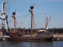 Hansahafen harbour in Luebeck Royalty Free Stock Photos