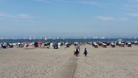 Hanse sail. Rostock, Germany, beach Stock Image