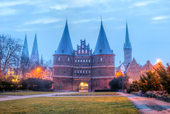Hanseatic город Lübeck Стоковое фото RF
