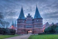 Hanseatic город Lübeck Стоковые Изображения