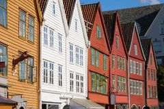 Hanseatic Buildings of Bryggen. Bergen, Norway Stock Photo
