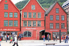 Hanseatic buildings of Bryggen, a World Heritage Site. Bergen, N Royalty Free Stock Photography