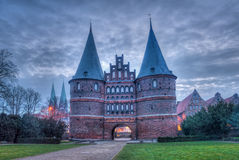 The Hanseatic City of Lübeck Stock Images